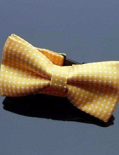 Partito Unisex/lavoro/Casual Bow Tie , di poliestere,giallo