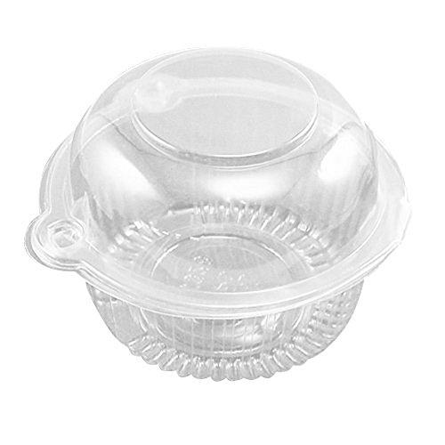 Simple en plastique transparent Supports Cupcake Muffin Dome cas Boîtes Coupes gousses, 50