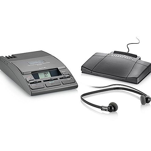 Philips Lfh0725-P52 Desktop 725 Analog Mini Cassette Executive Transcription System With Headset And Foot Control