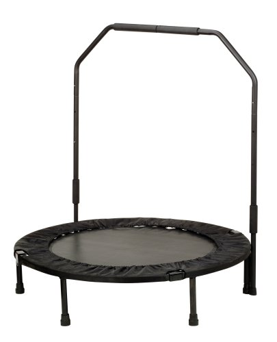 Fitness Trampoline W Support Bar Folding Exercise
