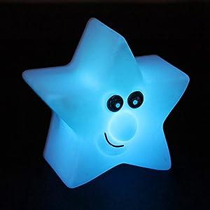 DAYAN Estrellas de colores la luz creativa de la noche la Luz del LED Lámpara de Noche en Forma de Estrella Romántica de DAYAN - BebeHogar.com