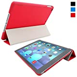 Snugg iPad Air (iPad 5) Ultra Thin Smart Case in Red - Flip Stand Cover with Auto Wake and Sleep for Apple iPad Air (iPad 5)