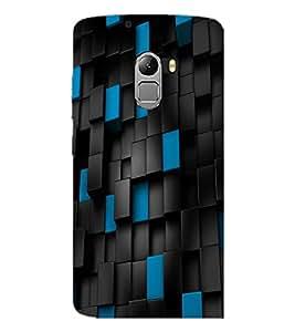 PrintDhaba Blue Black Bricks D-1169 Back Case Cover for LENOVO VIBE X3 LITE (Multi-Coloured)