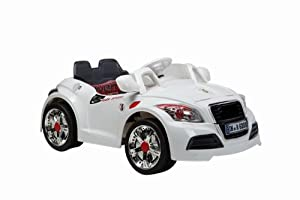 Electric Ride On Car White Audi TT Style Cabriolet Electric Childrens 6V Car - With Parental Remote Control