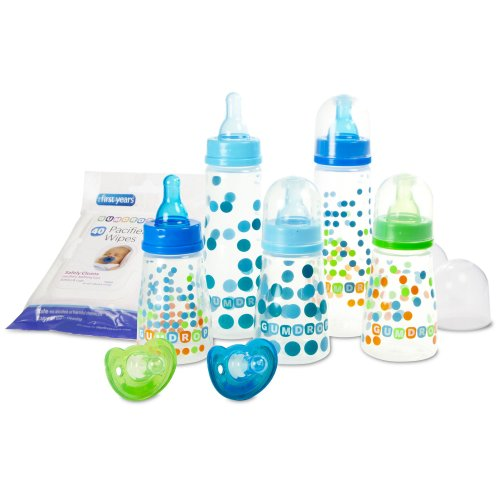 The First Years Gumdrop Bottle Starter Set, Blue/Green (Discontinued by Manufacturer)