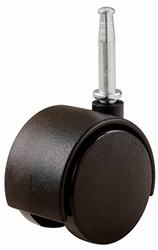 Shepherd Hardware 9418 2-Inch Office Chair Caster Wheel, 5/16-Inch Stem Diameter, 75-lb Load Capacity, 2-Pack