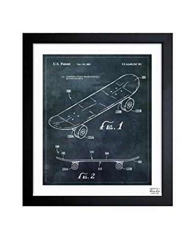 """Oliver Gal """"Skateboard, 2033"""" Framed Art"""