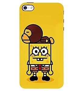 D KAUR Spongebob Back Case Cover for Apple I Phone 4S::Apple I Phone 4S