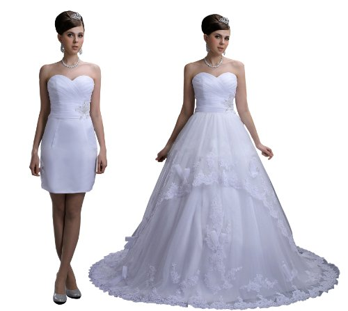 Two-in-One Tulle Lace Ball Gown