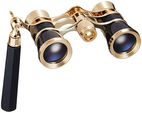 MIZAR-TEC オペラグラス 3倍25ミリ口径 伸縮式ハンドル付き ブラック BOH-350