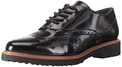 Marco Tozzi 23720, Brogue Donna, Nero (Black Brush 025), 38 EU