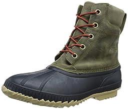 Sorel Men\'s Cheyanne Lace Full Grain Snow Boot, Sage/Sanguine, 13 D US