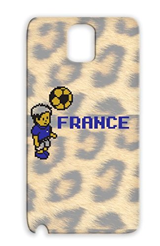 Anti-Scratch Tpu France Soccer Old School Soccer Player French Fashioned Computer Graphics Game Sports Ball Athletes Games For Sumsang Galaxy Note 3 Black Protective Case