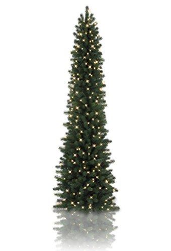 9' Balsam Hill Sonoma Slim Pencil Artificial Christmas Tree - Clear