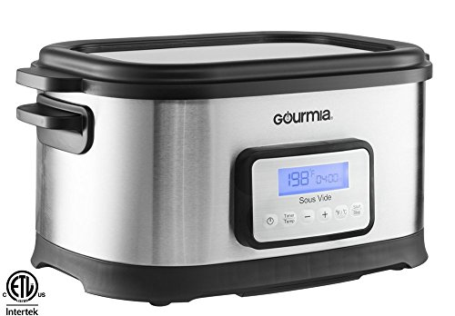 Gourmia GSV-550 9 quart Sous Vide Water Oven Cooker with Digital Timer and Temperature Controls Includes Rack, Stainless Steel (Water Immersion Cooker compare prices)