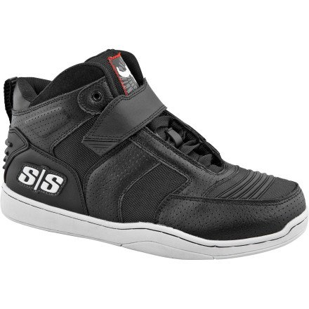 Speed and Strength Run with the Bulls Men's Riding Street Motorcycle Shoes - Black / Size 11