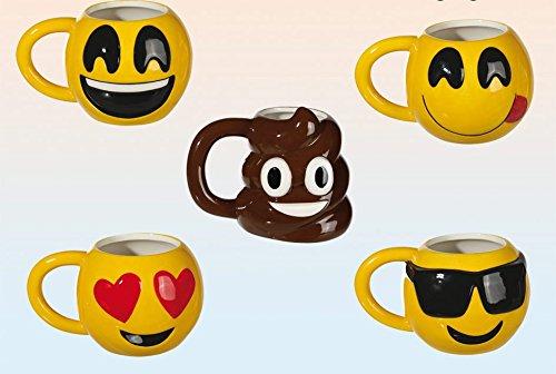 Emoji Tazza-5diversi motivi a scelta, Ceramica, Smile