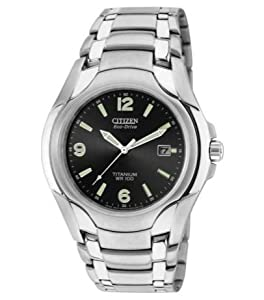 Modern Technology Citizen Men's Titanium Eco-Drive Bracelet Watch