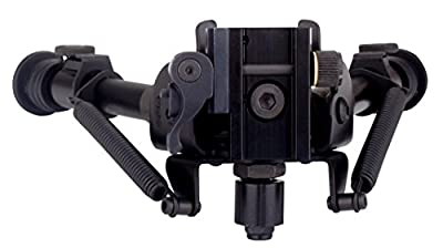 "TipTop® Tactical Quicklock EZ Pivot & Pan QD Bipod 7"" - 10.5"": Picatinny Mount, Extendable, Folding, with Sling-attached Hole.PN#S9-94676"