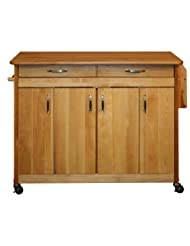 Catskill Craftsmen Butcher Block Island with Flat Doors and Drop Leaf by Catskill