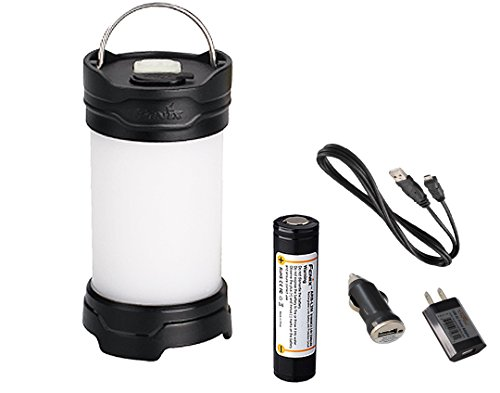 Bundle:Fenix CL25R 350 Lumens Rechargeable All Season Compact LED Camping Light, LumenTac Charging Adapters, Black