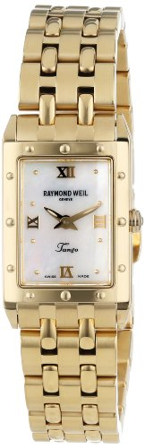 Raymond Weil Women's 5971-P-00915 Tango Rectangular 18Ct Yellow Gold Watch