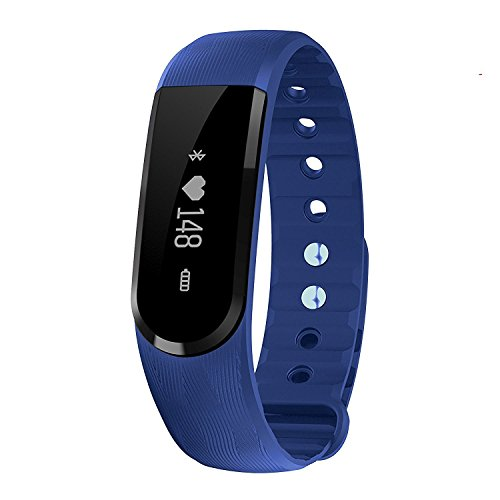 FIT-FIRE Smart Wireless Fitness Tracker with Heart Rate Monitor Activity Tracker Watch (Blue)