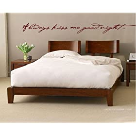 Always Kiss Me Goodnight Viny Wall Decal Sticker Graphic Words