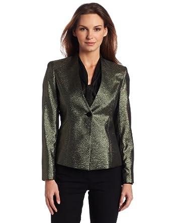 Jones New York Women's Fitted Collarless Jacket, Black