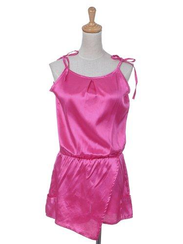 Anna-Kaci S/M Fit Hot Pink Shimmer Satin Comfort