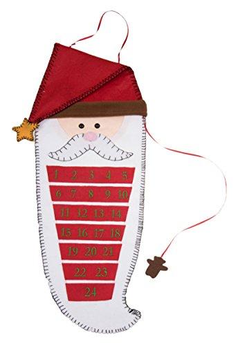 Santa's Beard 24 Day Hanging Christmas Advent Calendar - 26.5