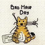Mouseloft Mini Cross Stitch Kit Bad Hair Day Biscuit the Cat Collection