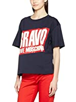 Love Moschino Camiseta Manga Corta (Azul)