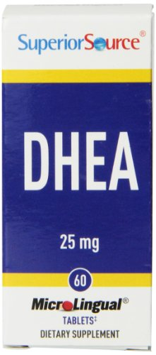 Superior Source DHEA suppléments nutritionnels, 25mg, 60 Count