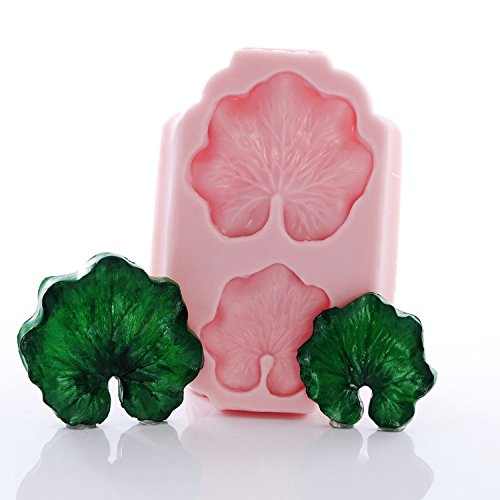 lily-pad-flexible-silicone-mold-fondant-candy-chocolate-food-safe-polymer-clay-resin-mold-epoxy-and-