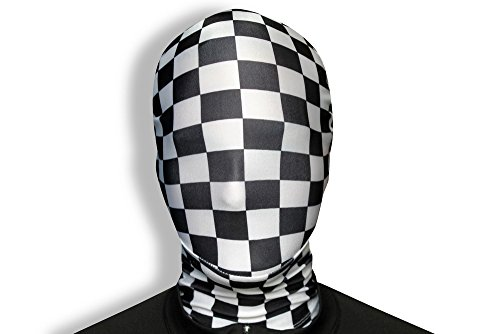 Morphsuits Morphmask Premium Check, Black / White, One Size - 1