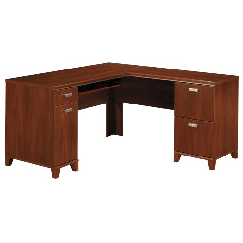 Bush Furniture Tuxedo Collection L-Desk, Hansen Cherry