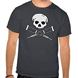 Jackass: Skull & Crutches Logo Tee - Guys