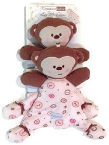 Vitamins Baby Blankie Buddy Pink Monkey Toddler Toys