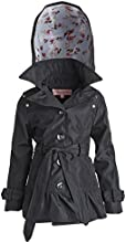 Urban Republic Little Girl Spring Trenchcoat Jacket with Belt and Removable Hood