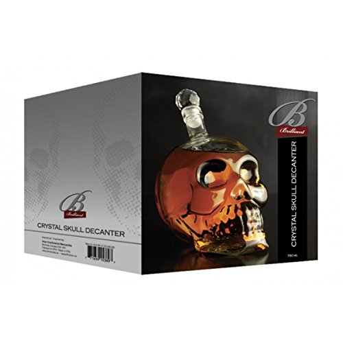 Brilliant - Skull Glass Decanter 25 oz.