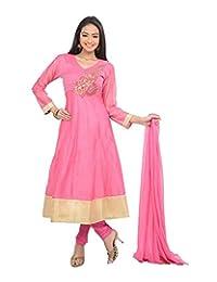 Sareeshut Women's Cotton Regular Fit Anarkali Suits - B00WQYYL5S