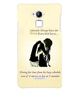 PRINTSHOPPII LOVE QUOTES Back Case Cover for Coolpad Note 3