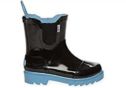 Toms Youth Rain Boot Black Blue Size 12 M US Little Kid
