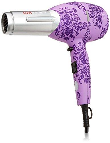 Chi Low Emf Professional Hair Dryer Purple Damask Rocket