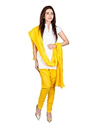 Womens Cottage Yellow Pure Cotton Chudidar & Cotton Dupatta With Lace Set