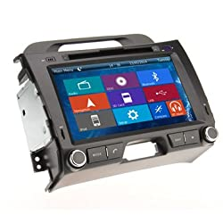 See Crusade Car DVD Player for KIA Sportage 2010-2013 Support 3g,1080p,iphone 6s/5s,external Mic,usb/sd/gps/fm/am Radio 8 Inch Hd Touch Screen Stereo Navigation System+ Reverse Car Rear Camara + Free Map Details