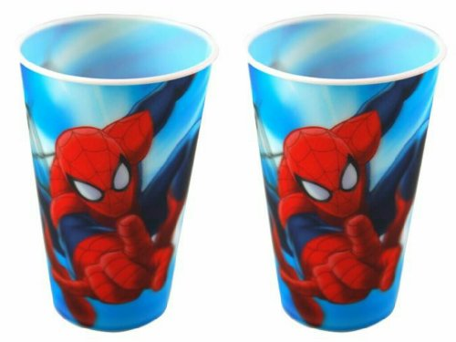 Marvel Spider-Man Plastic 16 Ounce Lenticular Cup (2-Pack)