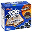 Pop-Tarts Toaster Pastries, Frosted Blueberry, 22 oz, (pack of 3)