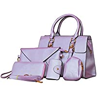 High Quality P.U Purple Stylish Trendy Fast Moving shoulde cross body wallet clutch mobile card holder bollywood fashion unifree Women Handbag Set